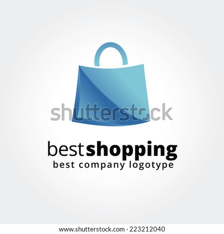 Abstract shopping logo icon concept isolated on white background for business design. Key ideas is shopping, sales, bag, pack, design. Concept for corporate identity and branding. Stock vector. - stock vector