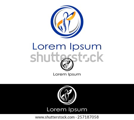 Abstract silhouette icon for use in healthcare industry - stock vector