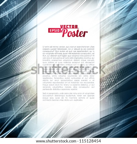 Abstract silver metallic digital background. Vector - stock vector