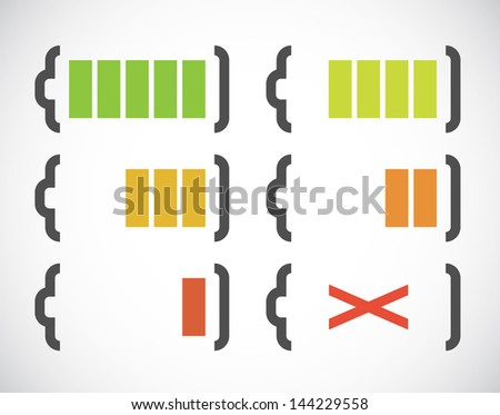 Abstract simple battery charge rate indicator. EPS10 vector. - stock vector