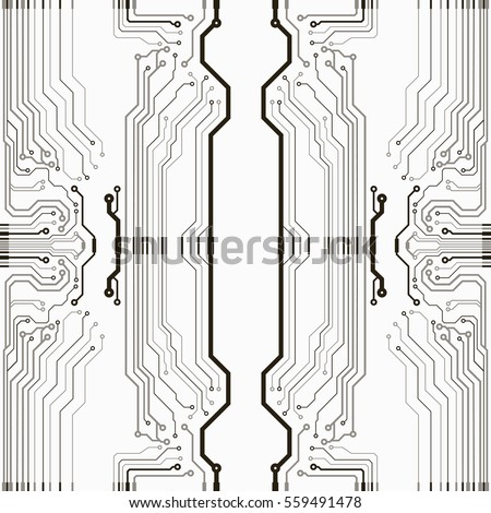 Abstract simple circuit board. EPS10 vector curves illustration