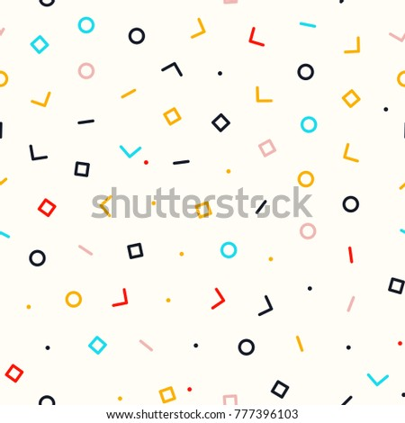 abstract simple geometry background seamless memphis stock vector