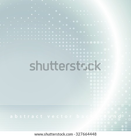 Abstract simple silver tech background with dots and strips. Graphic vector pattern - stock vector