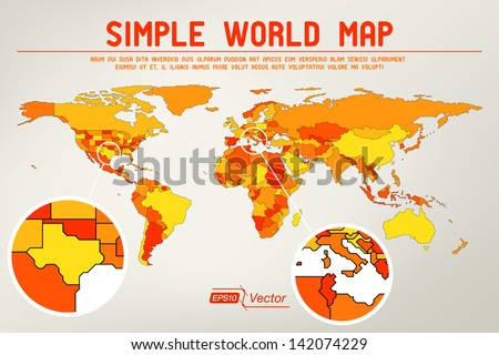 Abstract simple world map eps 10 vector stock vector 2018 abstract simple world map eps10 vector design gumiabroncs Image collections