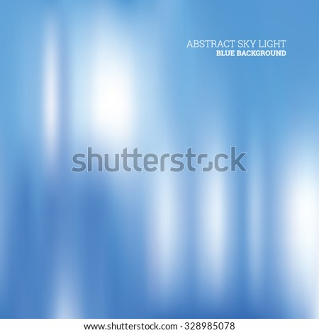 Abstract sky light blue background, vector editable - stock vector