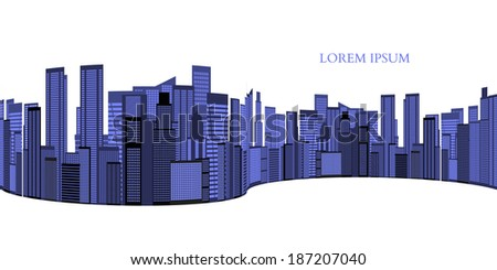 Abstract Skyline City Scape background. Vector illustration - stock vector