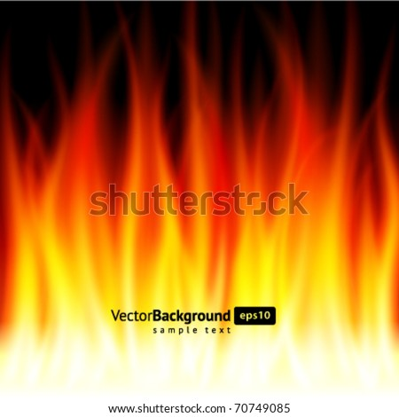 Abstract smooth burn flame fire vector background - stock vector