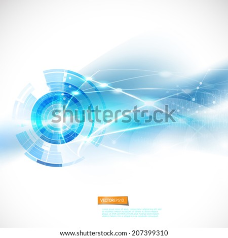 Abstract smooth flow moving mash background for technology or science concept and space for text, Vector illustration