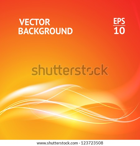 Abstract smooth horizontal background lines for your text. Vector Illustration. - stock vector