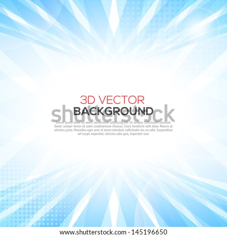 Abstract smooth light blue perspective background. - stock vector