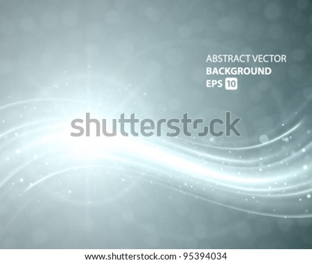 Abstract smooth light lines vector background. Eps 10. - stock vector