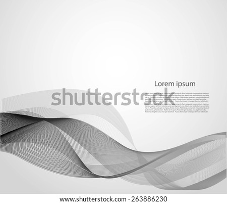 Abstract smooth lines - stock vector