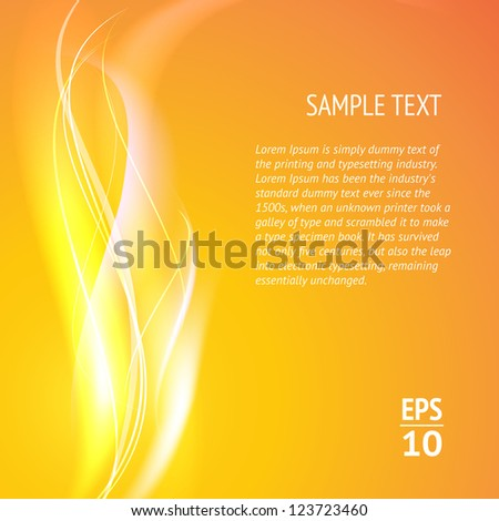 Abstract smooth lines. Vector background. - stock vector