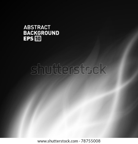 Abstract smooth smoke fire vector background. Eps 10. - stock vector