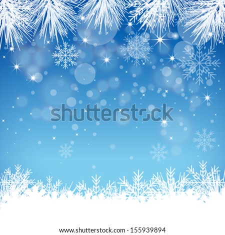 Abstract snow background - Illustration - stock vector