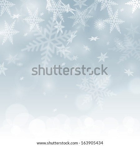 Abstract snowflake Christmas background - stock vector