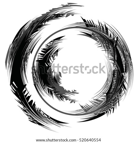 Abstract Snowstorm Vector Illustration Round Element Stock Vector ...