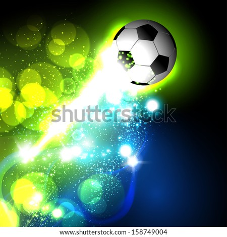 abstract soccer ball, easy all editable - stock vector
