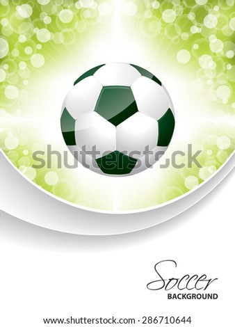 Abstract soccer brochure design with bursting ball - stock vector
