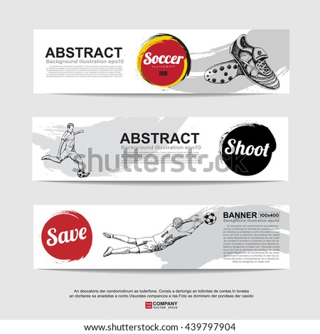 Abstract soccer( football ) banner,Flag color.Illustration eps 10 - stock vector