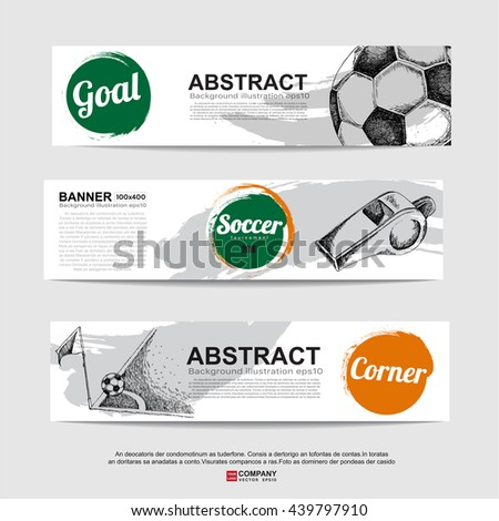 Abstract soccer( football ) banner.Illustration eps 10