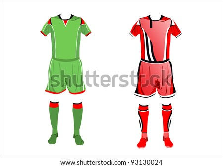 Abstract Soccer uniforms - stock vector