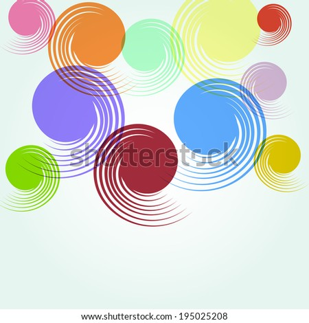 abstract soft background with spiral colorful shapes. vector illustration