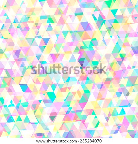 Abstract soft geometric background with triangles - stock vector