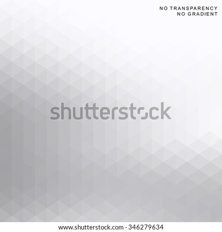 Abstract soft geometric background with white and grey color tones. - stock vector