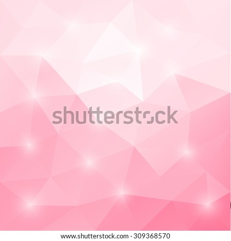 Abstract soft pink colored polygonal vector triangular geometric background for use in design for card, invitation, poster, banner, placard or billboard cover - stock vector