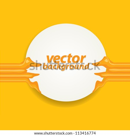 abstract soft vector background. orange brochure template design.