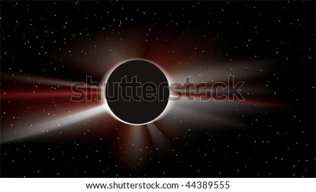 abstract solar eclipse - stock vector