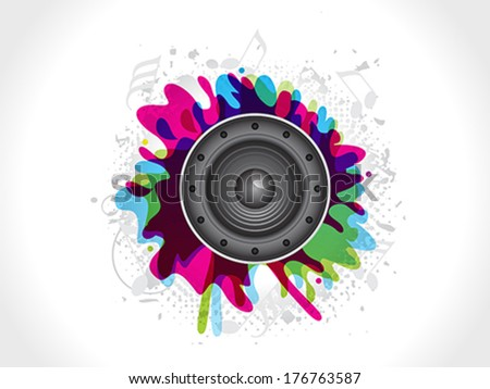 abstract sound explode vector illustration