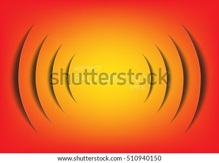 Abstract sound wave technology background. Infographics elements in the form of paper cut. Vector illustration.
