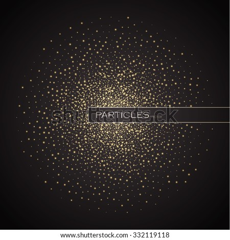 Abstract Space Background. Explosion of Glowing Particles. Futuristic Technology Design. Elegant Background for Business Presentations, Gift cards, Universe & Jewelry Design. Vector illustration. - stock vector