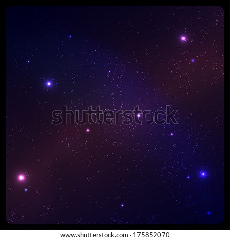 Abstract space background with frame - stock vector