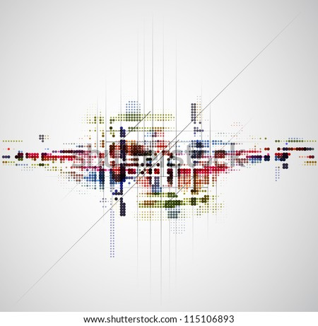 abstract space city technology background