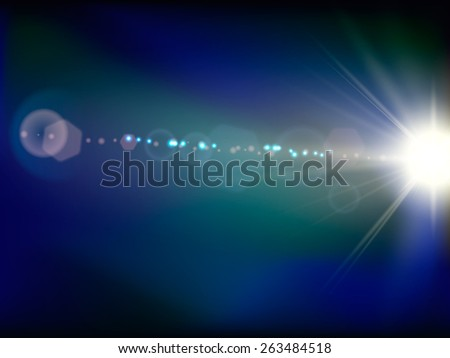 Abstract space flash flare. Vector illustration - stock vector