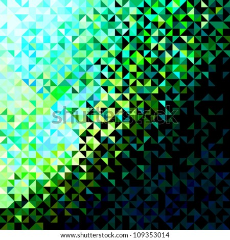 Abstract Sparkle Green Blue Yellow Black Vector Background - stock vector