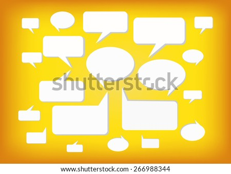 Abstract speech background, Vector illustration - stock vector