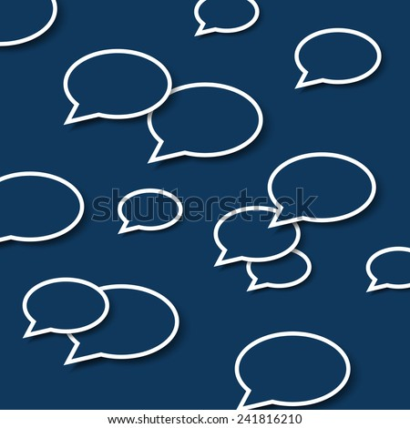Abstract Speech Bubble Background - stock vector
