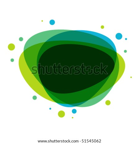 Abstract speech bubble colorful vector background - stock vector