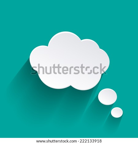 Abstract  Speech Bubble with shadow eps - stock vector