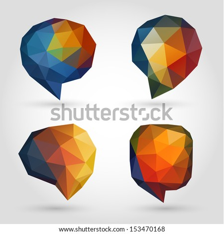 Abstract speech bubbles collection - eps10 - stock vector