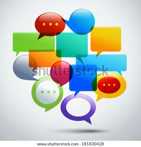 Abstract speech bubbles for infographics and presentation concept vector illustration
