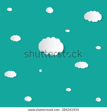 Abstract speech bubbles in the shape of clouds used in a social networks  background. Vector eps10 illustration - stock vector