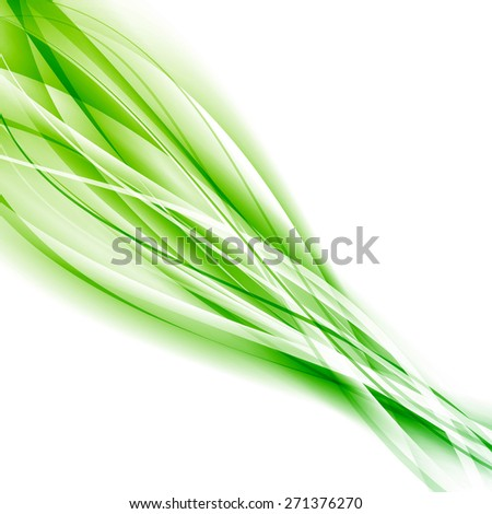 Abstract speed green eco swoosh background. Vector illustration