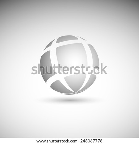 abstract sphere from geometrical figures - stock vector