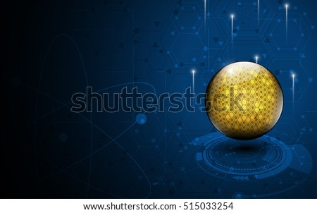 abstract sphere technology concept hi tech pattern design background