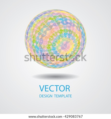 Abstract Sphere.Vector Colorful Ball